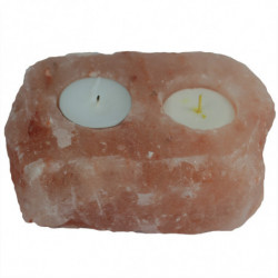 Natural Salt Candle Holder...