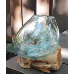 Molten Glass on Wood -...