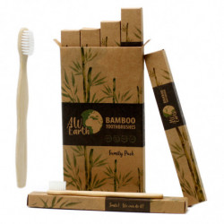 Bamboo Toothbrush - White -...