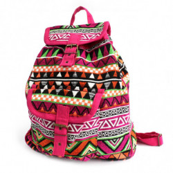 Jacquard Bag - Pink Backpack