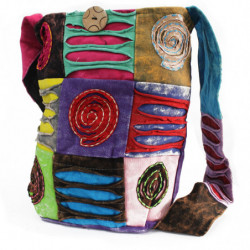 Ethnic Sling Bag - Purple /...