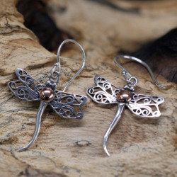 Dragonflies - Silver & Gold...