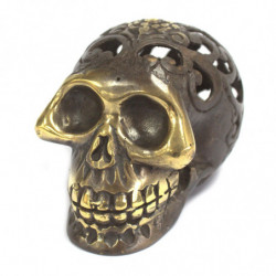 Vintage Brass Skull - Medium