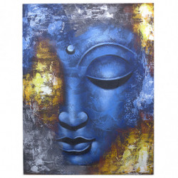 Blue Face Abstract - Buddha...