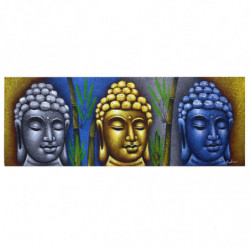 Three Heads With Bamboo -...